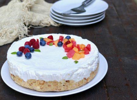 torta fredda allo yogurt greco senza cottura
