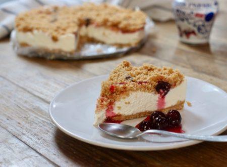 Sbriciolata cheesecake alle amarene