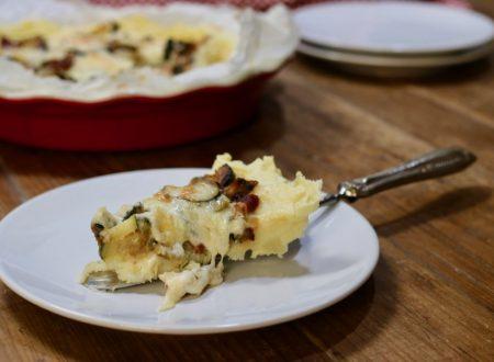 crostata di patate con zucchine e taleggio