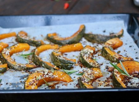 zucca al forno gratinata con semi