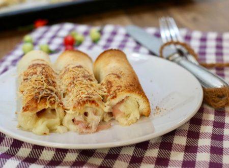 Cannoli di pancarrè con prosciutto e formaggio