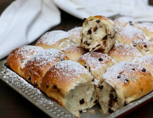 pane e cioccolato con crema nell'impasto