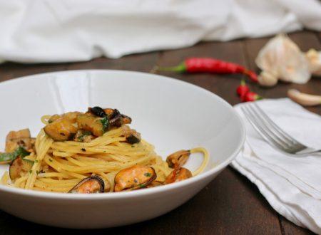 spaghetti cozze e zucchine