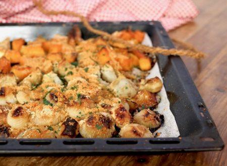 verdure con le briciole al forno