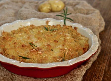 Sbriciolata di patate con mortadella e Asiago