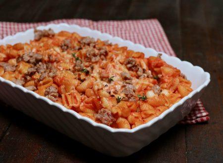 gnocchetti sardi al forno con ragù di salsiccia