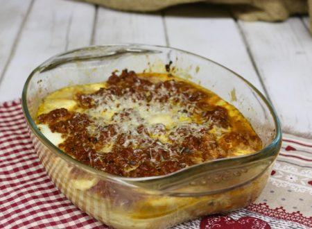 polenta pasticciata con ragù di salsiccia