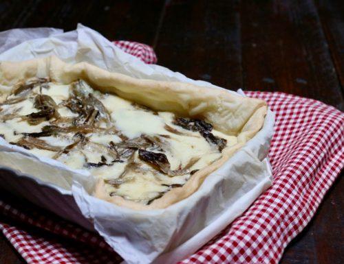 torta salata con radicchio e casatella