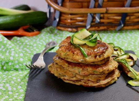 pancakes zucchine e pancetta