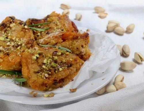 cotolette di zucca al pistacchio