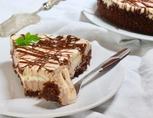 la strana torta cremosa al cioccolato