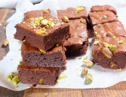 brownies con pistacchi