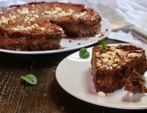 torta senza cottura di biscotti e nutella