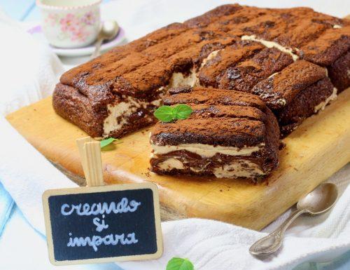 torta senza cottura di pavesini caffè e nutella