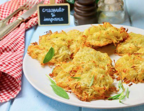 schiacciatine di patate al rosmarino