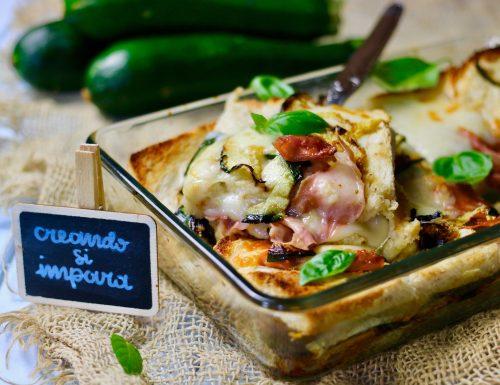 lasagna di pancarrè alle zucchine