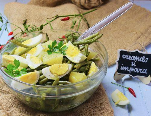 insalata di uova patate e fagiolini
