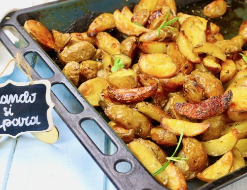 patate al forno burro e rosmarino