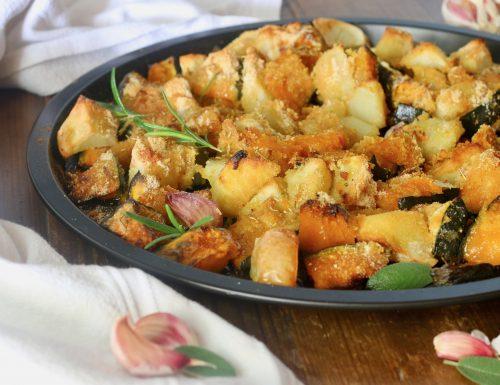 zucca e patate sabbiose al forno