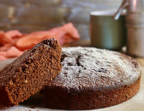 torta soffice al cioccolato senza uova
