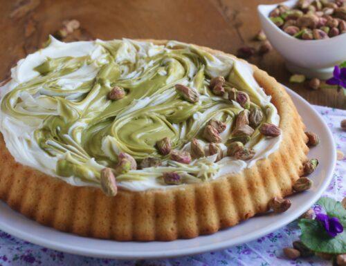 crostata morbida con mascarpone e pistacchio