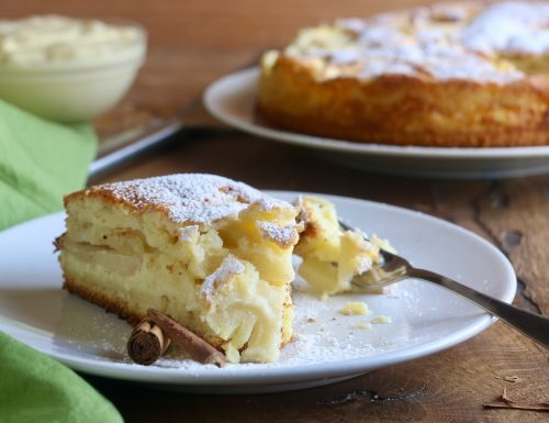 torta versata crema mele e cannella