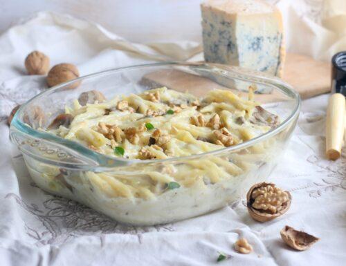 Trofie al forno gorgonzola e noci