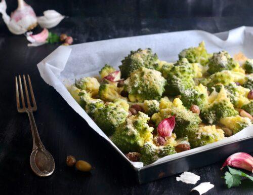 Broccolo romano al forno con olive