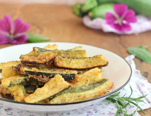 bastoncini di zucchine profumati al forno