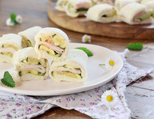 rotolini di pancarrè con zucchine prosciutto e formaggio