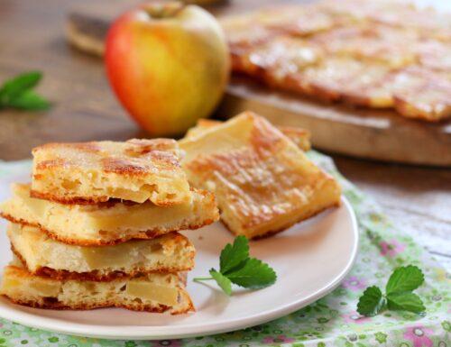schiacciata rovesciata di mele super leggera