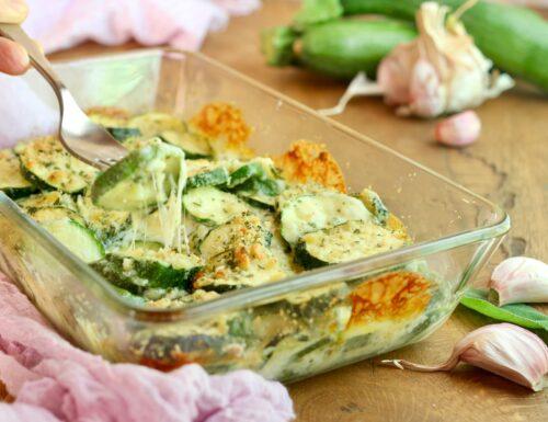 zucchine con formaggio al forno