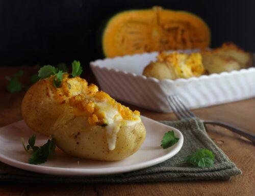 patate ripiene di zucca e caciotta