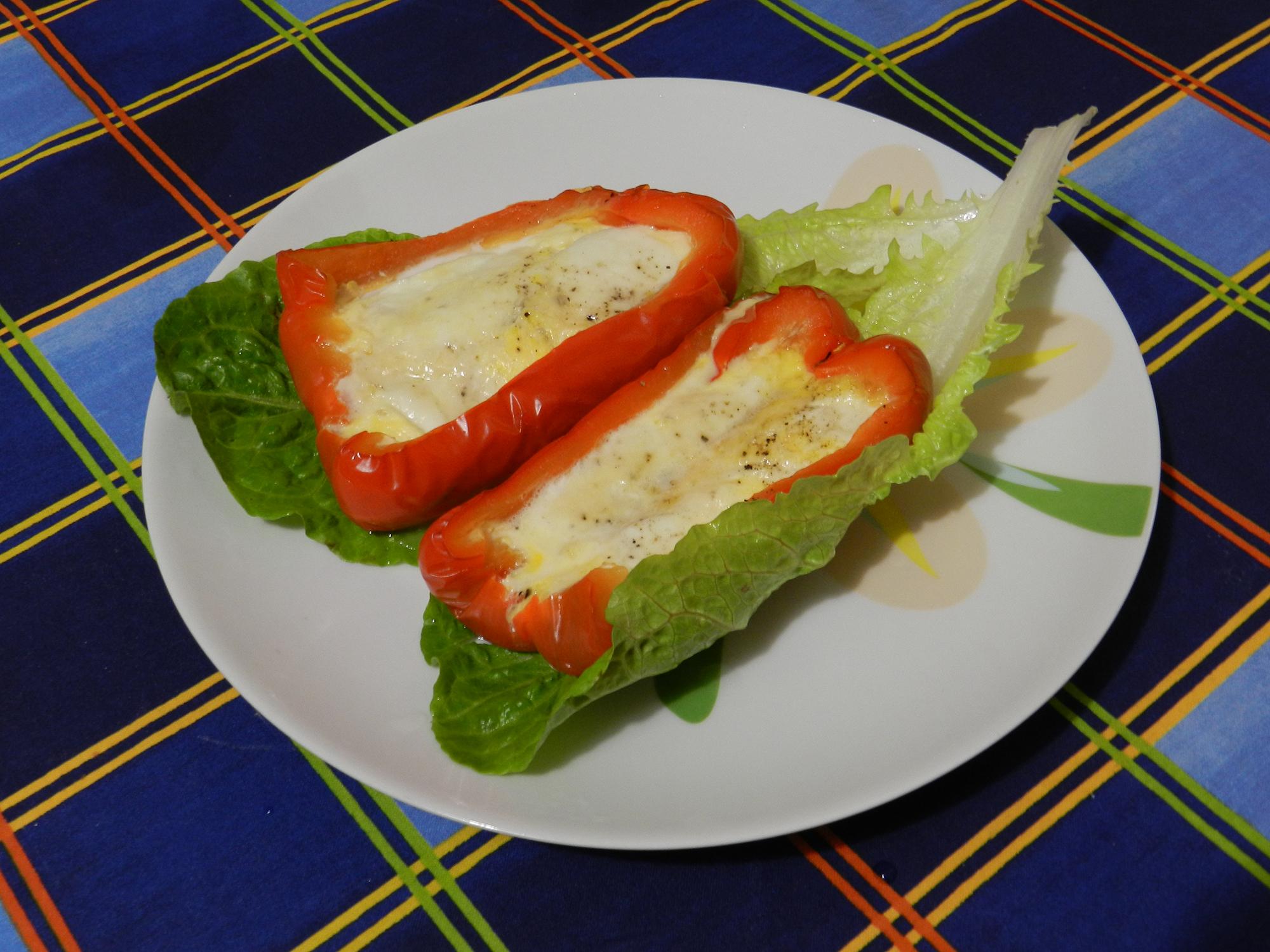 Peperoni ripieni di mozzarella cucina creativa for Cucina creativa