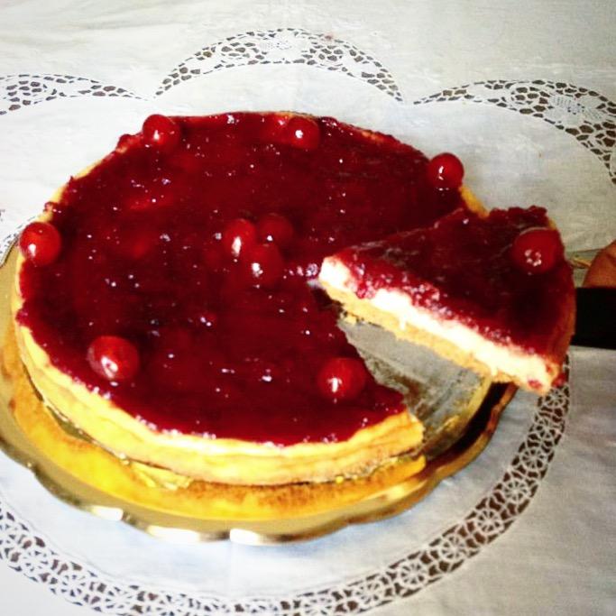 Cheesecake alla marmellata di amarene