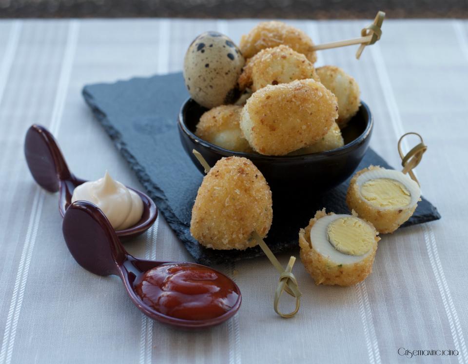 uova di quaglia fritte, ricetta veloce - Cucinare Uova Di Quaglia