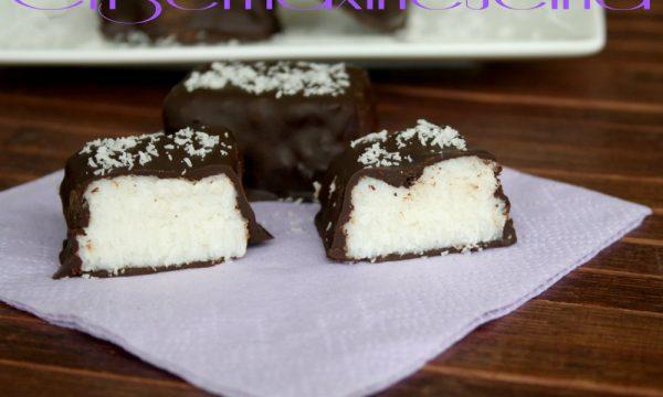 Cioccolatini bounty, ricetta passo a passo