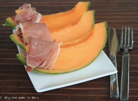 Crudo e melone, ricetta estiva