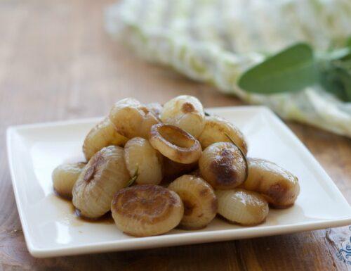 Cipolline in agrodolce, ricetta contorno piemontese