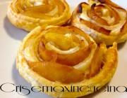 Rose di pasta sfoglia con mele e cannella, ricetta veloce ed economica