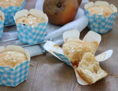 Muffin di mele e granella di zucchero, ricetta facile  con e senza Bimby