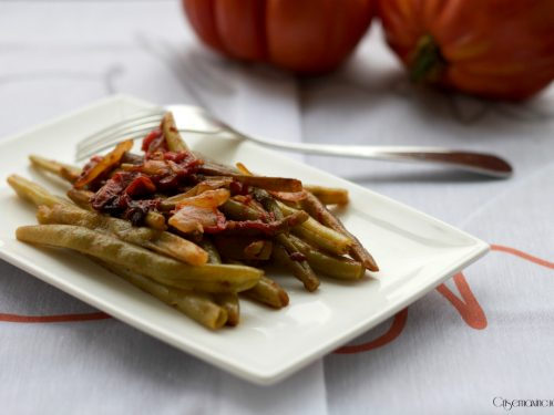 Fagiolini in umido, ricetta vegetariana