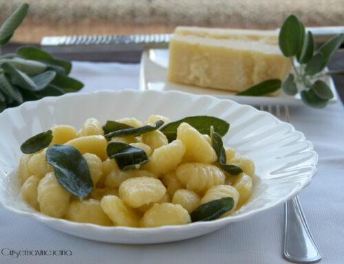 Gnocchi burro e salvia, ricetta primo piatto