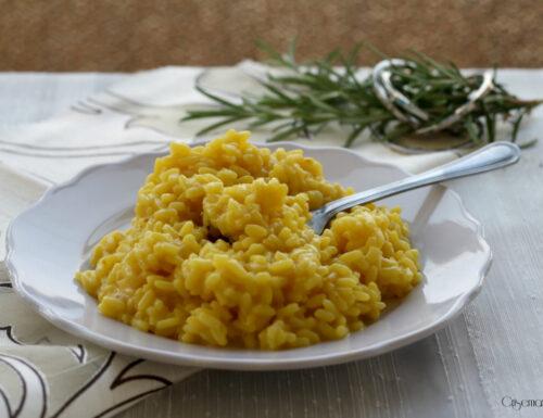 Risotto alla milanese rivisitato, ricetta regionale