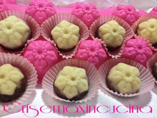 Mini muffin bicolore, ricetta creativa