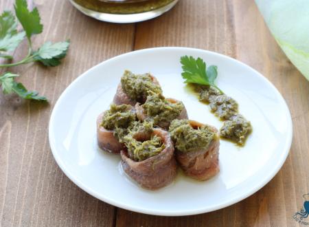 Acciughe con la salsa verde, ricetta gustosa