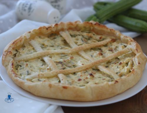 Torta salata ricotta e zucchine, ricetta sfiziosa di facile preparazione