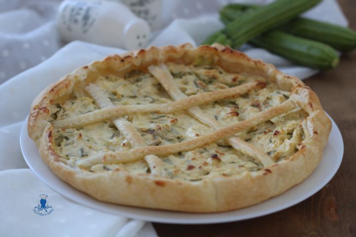 Torta salata ricotta e zucchine1