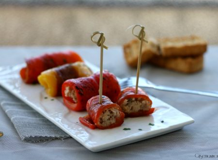 Involtini di peperoni con il tonno, ricetta stuzzicante