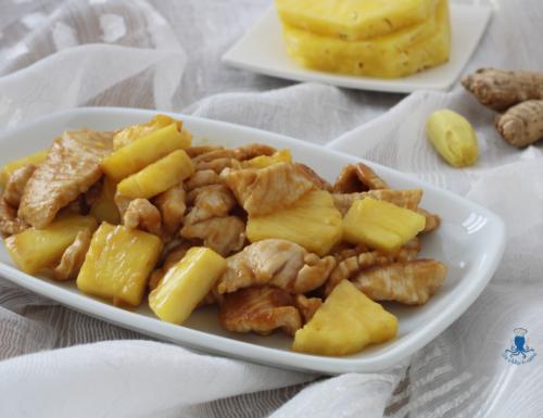 Straccetti di tacchino con ananas, ricetta facile e veloce